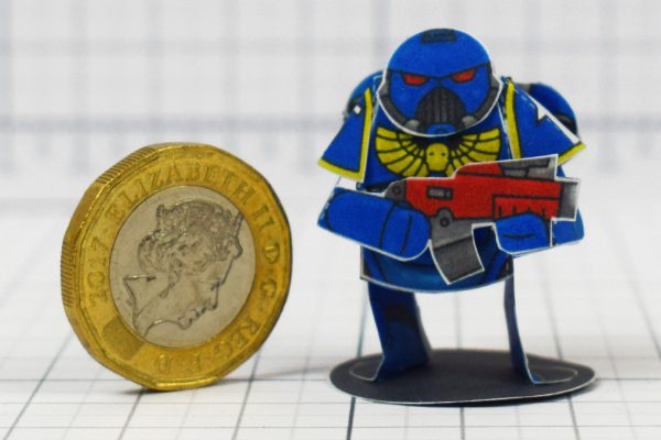 PTI - 40K Space Marine Paper Craft Concept - Image Coin