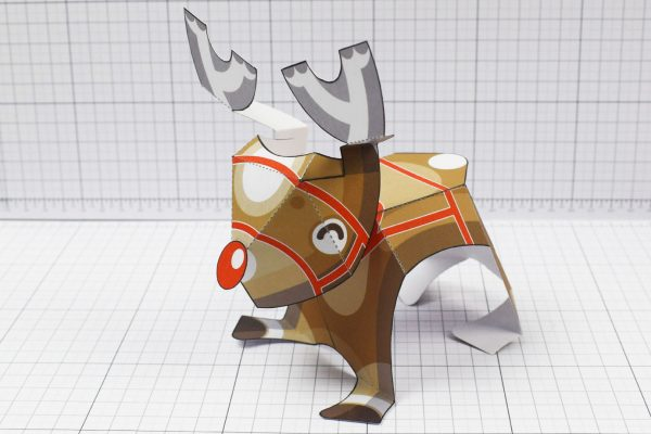 PTI - Christmas Xmas Paper Toy Decoration Rudope Reindeer - Image Main