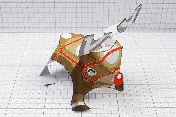 PTI - Christmas Xmas Paper Toy Decoration Rudope Reindeer - Image Top