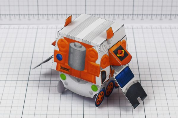 PTI - Cruton Space Rover Robot Paper Toy Craft - Image Back