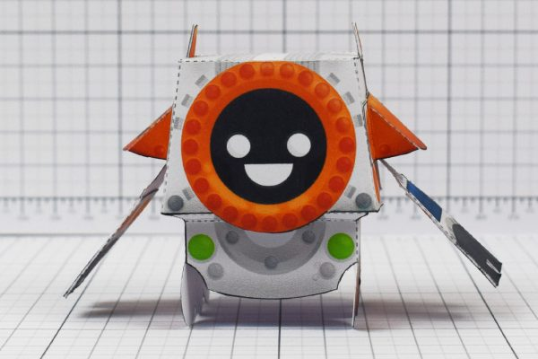 PTI - Cruton Space Rover Robot Paper Toy Craft - Image Front