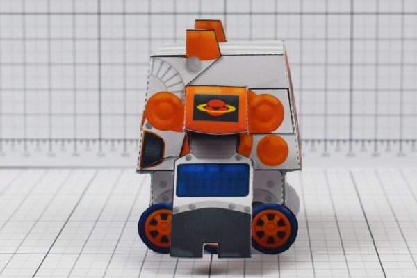 PTI - Cruton Space Rover Robot Paper Toy Craft - Image Side