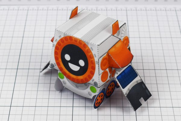PTI - Cruton Space Rover Robot Paper Toy Craft - Image Top