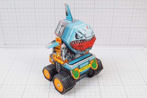PTI - Custom Shark Silo Paper Toy - Image Top