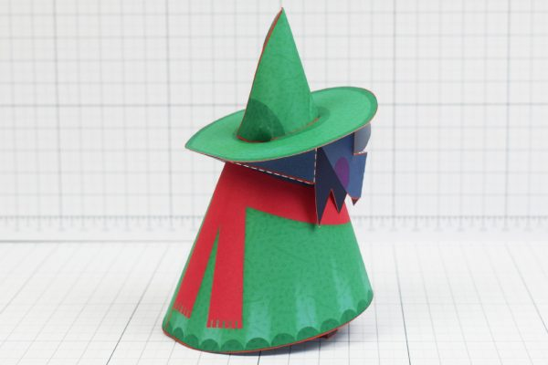 PTI - Deltarune Ralsei Fan Art Paper Toy Craft 3D - Image Back