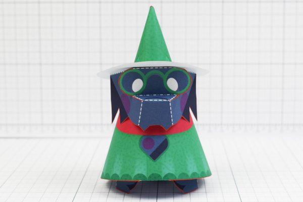 PTI - Deltarune Ralsei Fan Art Paper Toy Craft 3D - Image Front