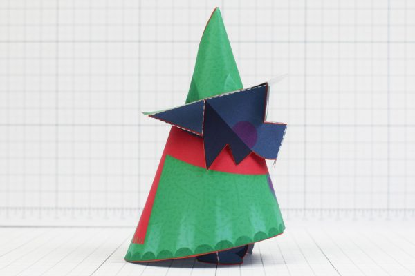 PTI - Deltarune Ralsei Fan Art Paper Toy Craft 3D - Image Side
