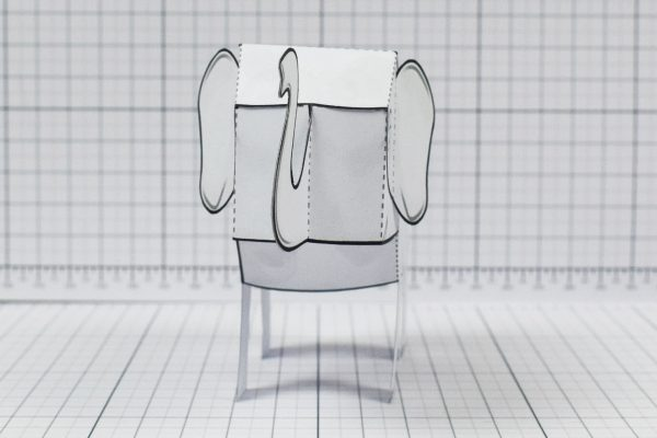 PTI - Herd Elephant Blank Paper Toy - Image Front