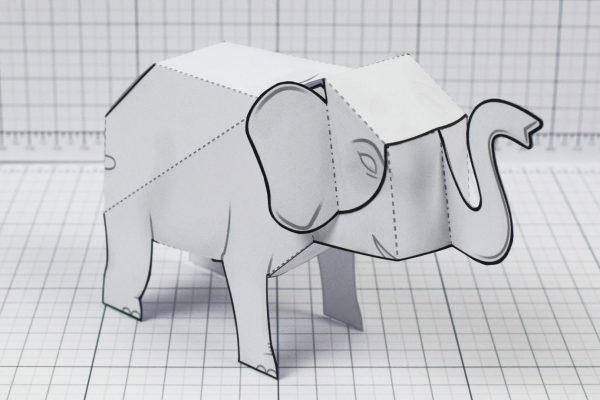 PTI - Herd Elephant Blank Paper Toy - Image Main