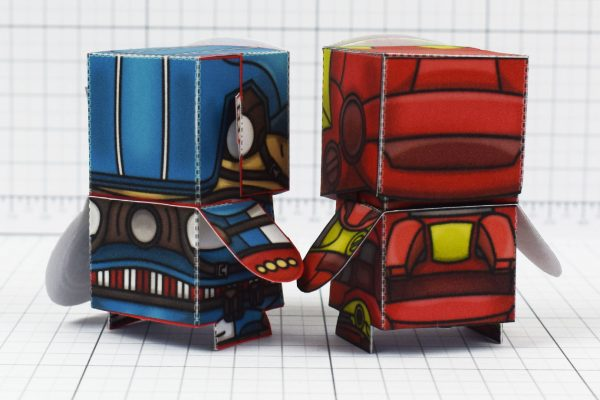 PTI - Iron Man and Captain America Marvel Fan Art Paper Toys - Image Back