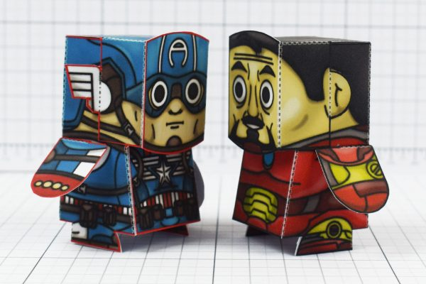 PTI - Iron Man and Captain America Marvel Fan Art Paper Toys - Image Sides