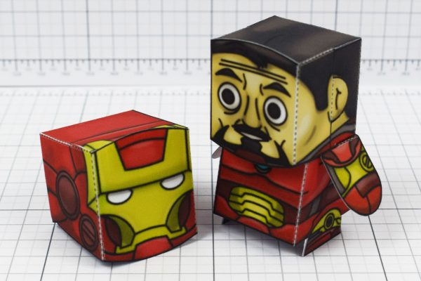 PTI - Iron Man and Captain America Marvel Fan Art Paper Toys - Image Stark