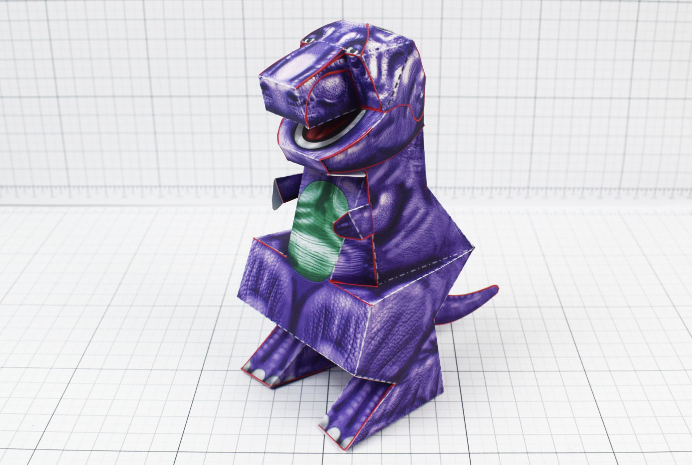 PTI - Purple Dinosaur Paper Toy Project - Image Main
