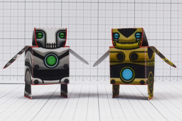 PTI - Salt and Pepper paper toy robots - Image Fronts