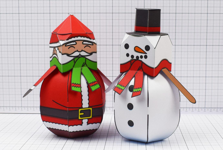 PTI - Twinkl Christmas - Ballencing Santa and Snowman - Image Main