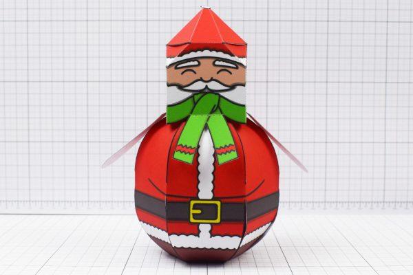 PTI - Twinkl Christmas - Ballencing Santa and Snowman - Image Santa
