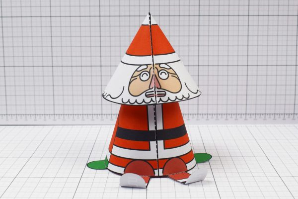 PTI- Twinkl Christmas - Bobble Head Santa Paper Toy - Image Front