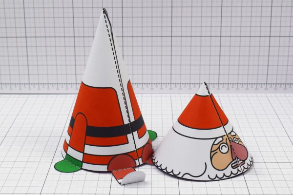 PTI- Twinkl Christmas - Bobble Head Santa Paper Toy - Image Off