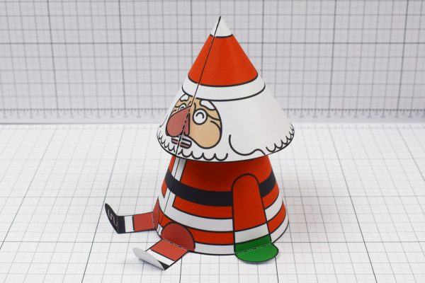 PTI- Twinkl Christmas - Bobble Head Santa Paper Toy - Image Top