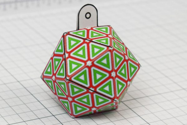 PTI - Twinkl Christmas - Icosahedron Baubles Decoration - Image 1