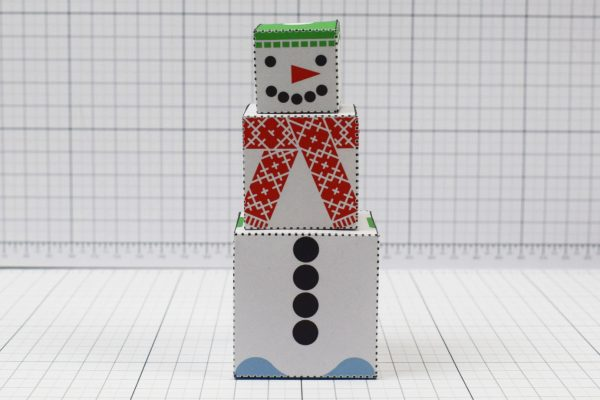PTI- Twinkl Christmas - Minimal Block Snowman - Image Front