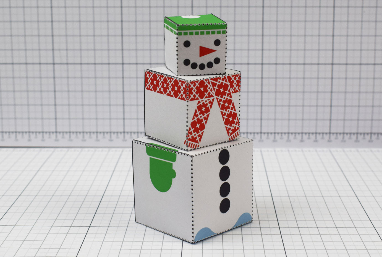 PTI- Twinkl Christmas - Minimal Block Snowman - Image Main