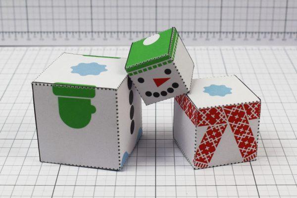 PTI- Twinkl Christmas - Minimal Block Snowman - Image Pile A