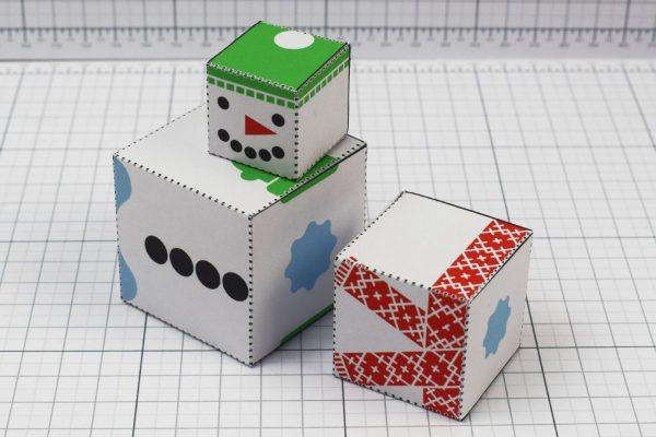 PTI- Twinkl Christmas - Minimal Block Snowman - Image Pile B