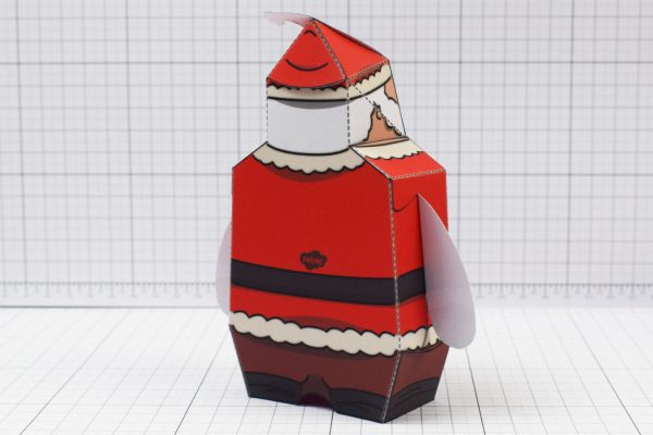 PTI - Twinkl Christmas - Old 3D Santa Clause Paper Toy - Image Back