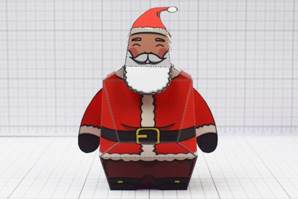 PTI - Twinkl Christmas - Old 3D Santa Clause Paper Toy - Image Front