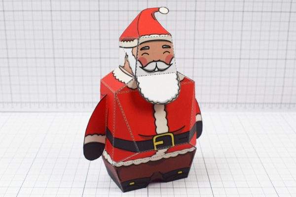 PTI - Twinkl Christmas - Old 3D Santa Clause Paper Toy - Image Low