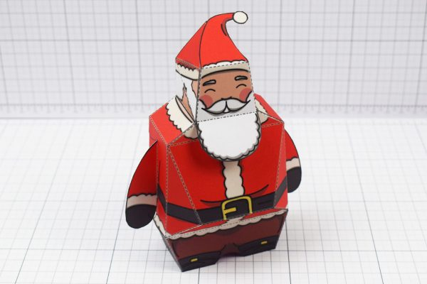PTI - Twinkl Christmas - Old 3D Santa Clause Paper Toy - Image Main