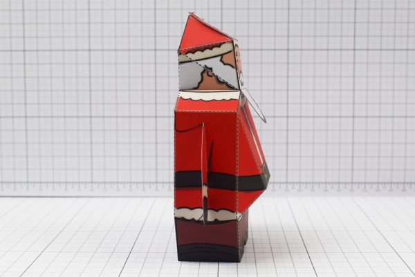 PTI - Twinkl Christmas - Old 3D Santa Clause Paper Toy - Image Side