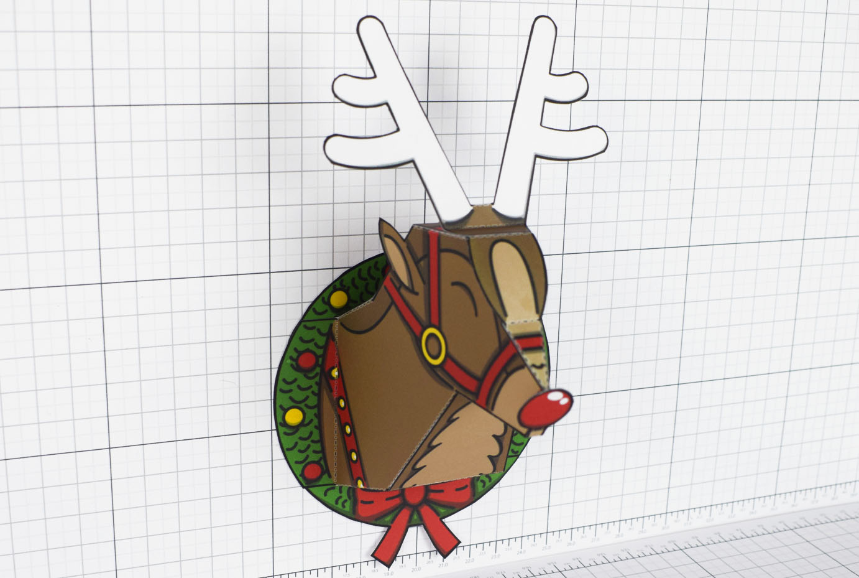 PTI - Twinkl Christmas - Reindeer Head Decoration - Image Main