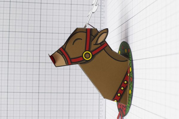 PTI - Twinkl Christmas - Reindeer Head Decoration - Image Side