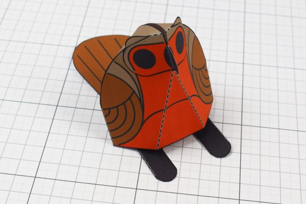 PTI - Twinkl Christmas - Simple Robin Paper Toy Decoration Top