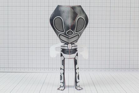 THU - 3 Eyed Bear Alien Custom Papertoy - Image Thumbnail