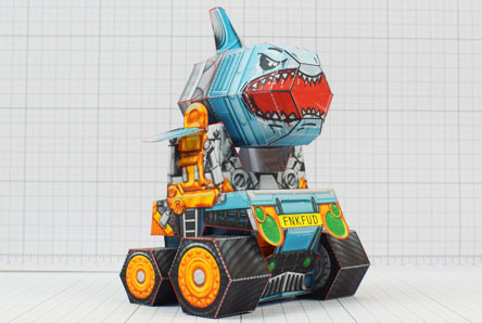 THU - Custom Shark Silo Paper Toy - Image Thumbnail