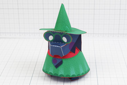 THU - Deltarune Ralsei Fan Art Paper Toy Craft 3D - Image Thumbnail