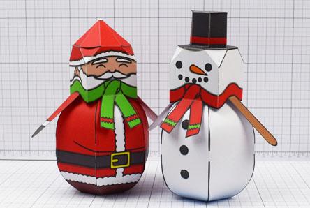 THU - Twinkl Christmas - Ballencing Santa and Snowman - Image Thumbnail
