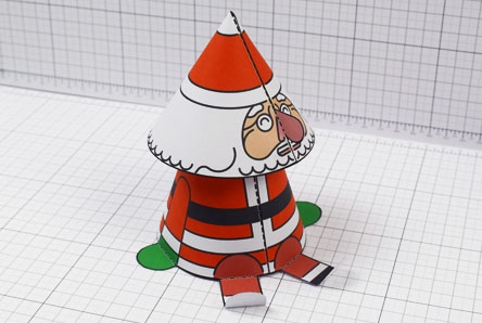 THU- Twinkl Christmas - Bobble Head Santa Paper Toy - Image Thumbnail