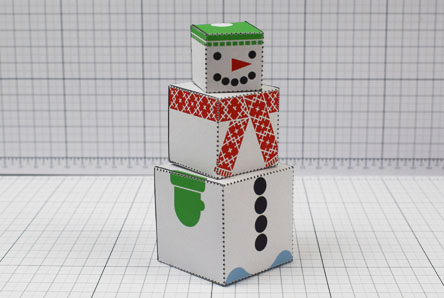 THU- Twinkl Christmas - Minimal Block Snowman - Image Thumbnail