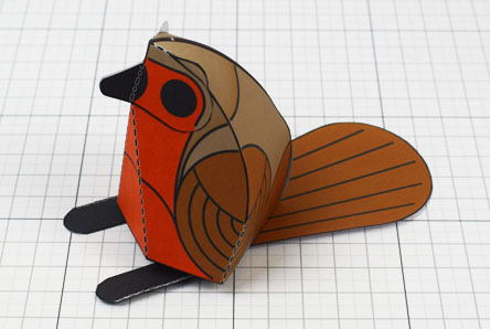 THU - Twinkl Christmas - Simple Robin Paper Toy Decoration Thumbnail
