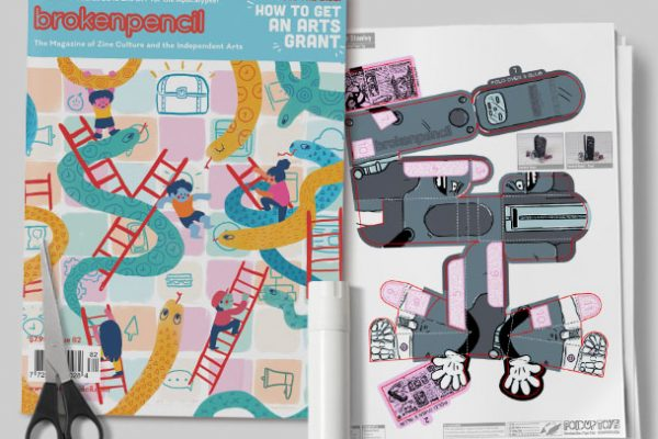 MU - Broken Pencil - Staple Stanley Paper Toy - Image Mcoukp