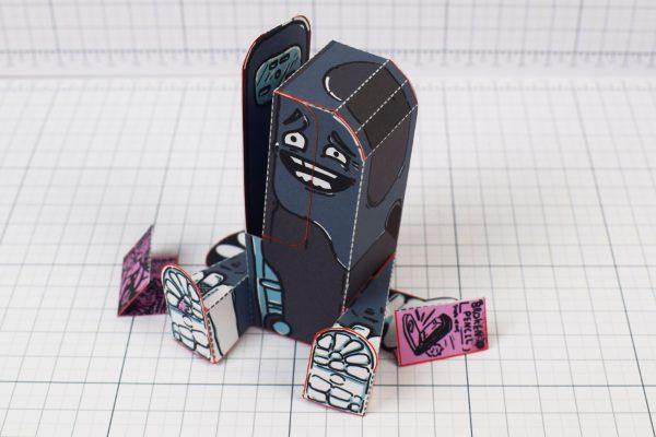 PTI - Broken Pencil - Staple Stanley Paper Toy - Image Main