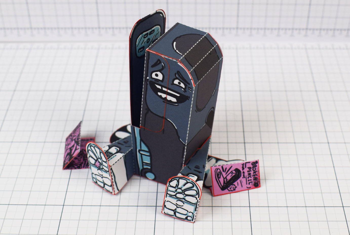 PTI - Broken Pencil - Staple Stanley Paper Toy - Image Main