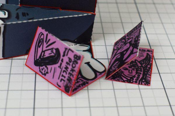 PTI - Broken Pencil - Staple Stanley Paper Toy - Image Zines