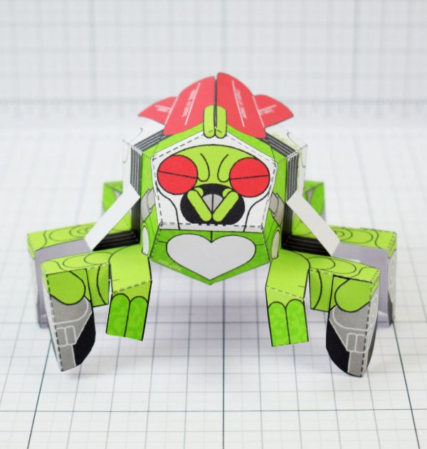 PTI - Doubt Fly Monster Paper Toy Bug Insect - Image Front square