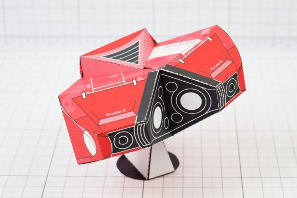 PTI - Love Starship Paper Toy Heart - Image Back