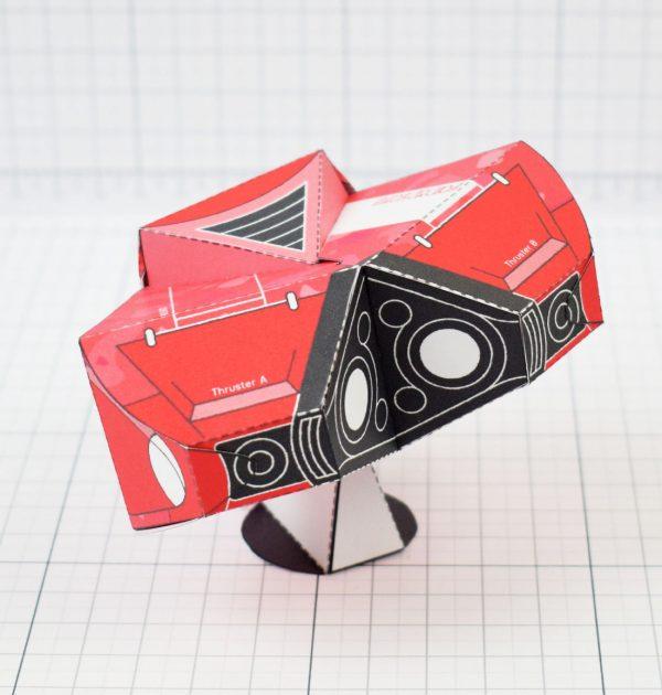PTI - Love Starship Paper Toy Heart - Image Back square